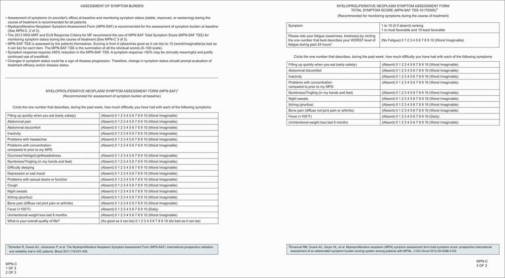 Myeloproliferative Neoplasms, Version 2 2017, NCCN Clinical